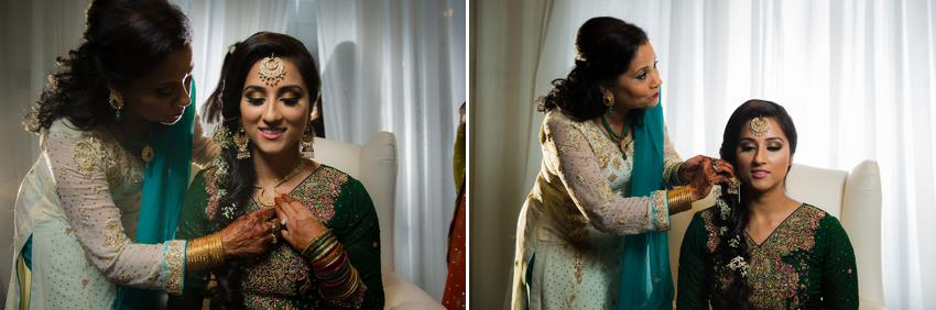 Pakistani Bride with her mother.