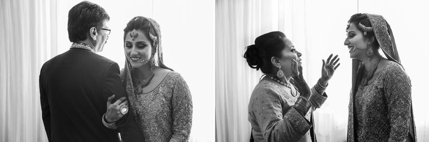 Pakistani Bride and her parents