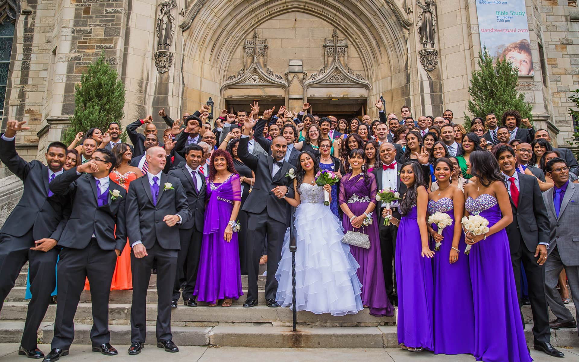Guyanese catholic couple have a wonderful church wedding. (18)
