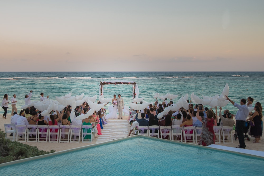 Wedding Oasis Tulum Mexico Catholic