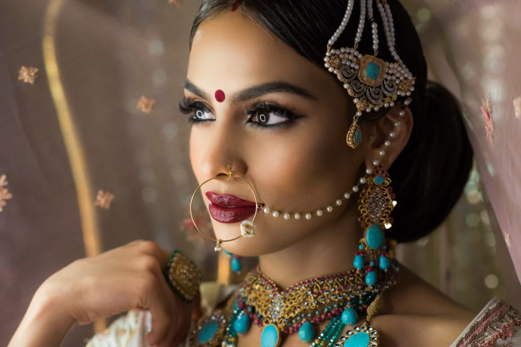 Toronto Indian Wedding makeup and hair canvas