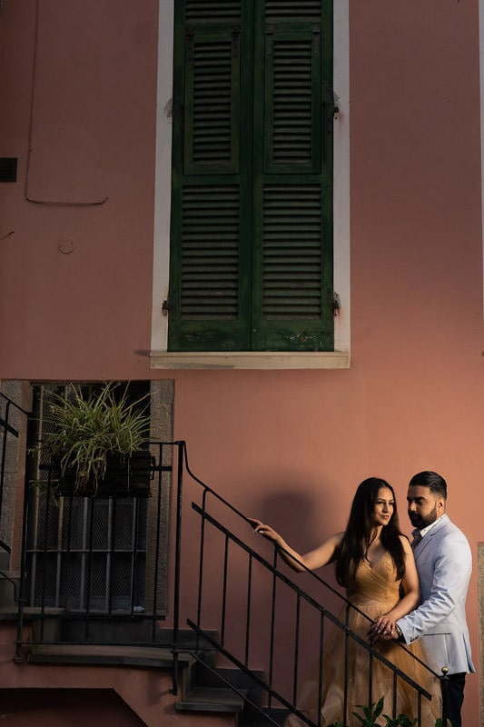 Couple photoshoot at Manorala, Cinque Terre.