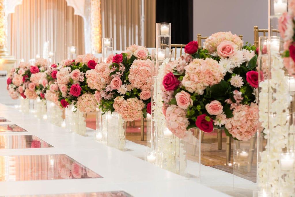 Chicago Indian Hindu Wedding Venue Floral Decoration