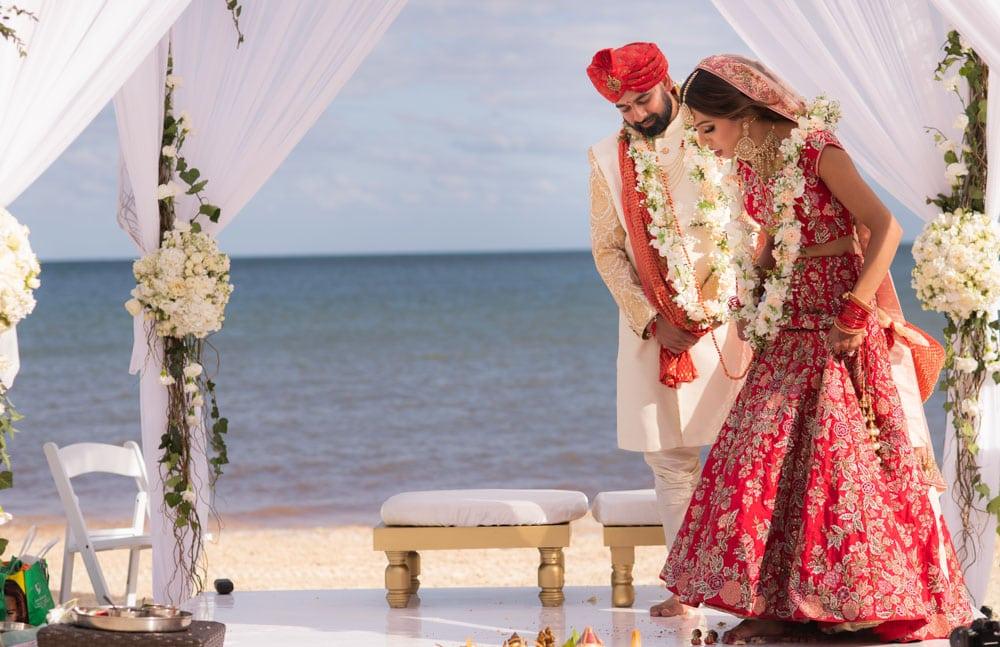 Moon Palace Sikh Hindu Indian Wedding in Cancun Mexico. Wedding Ceremony down south. Beach Wedding.
