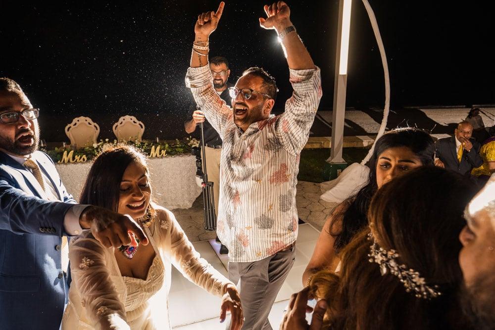Moon Palace Sikh Hindu Indian Wedding in Cancun Mexico Reception Dancefloor