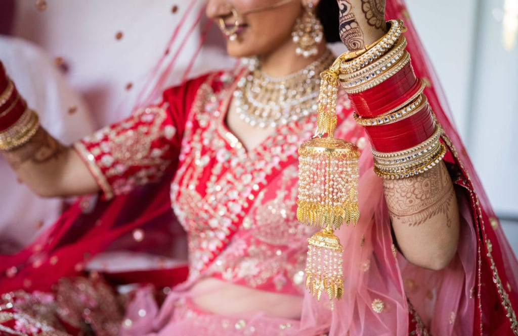 Bright and airy Indian bridal look