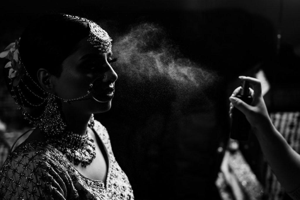 Ottawa Sikh Bride getting ready for her wedding ceremony