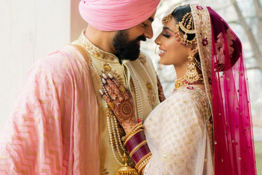Sikh Indian bride and groom in Ottawa, Canada