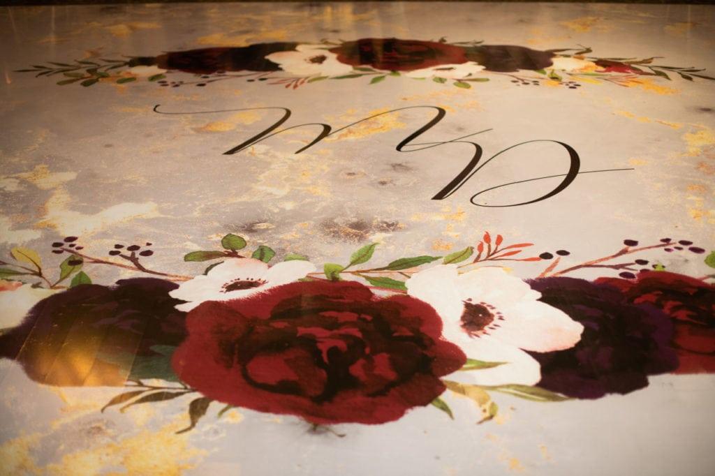 Floorwrap for Indian wedding at Bellvue Manor, Toronto.