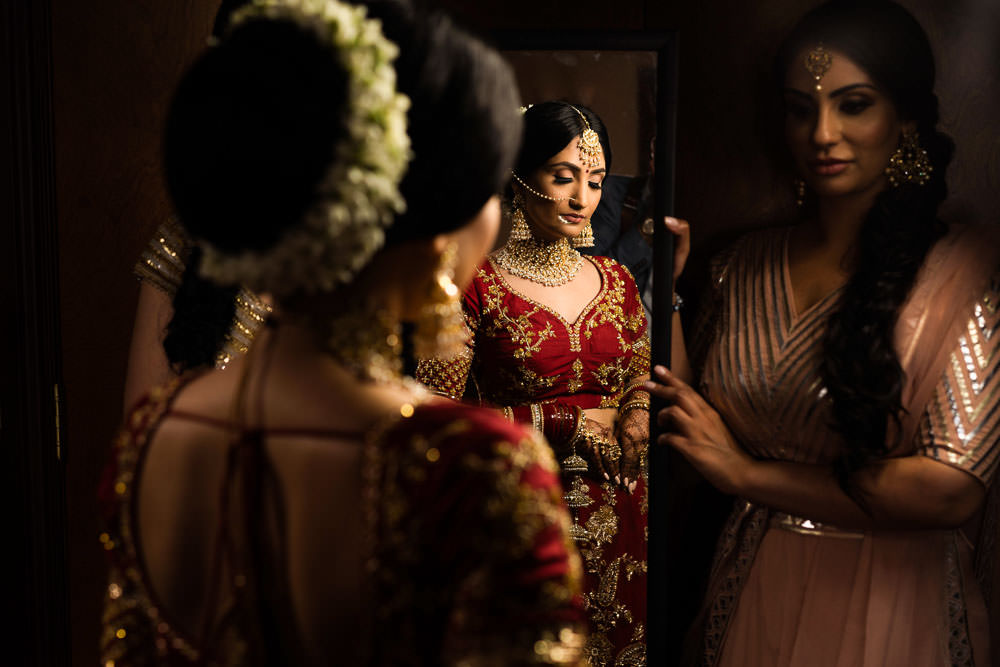 Indian Bride in red lehenga