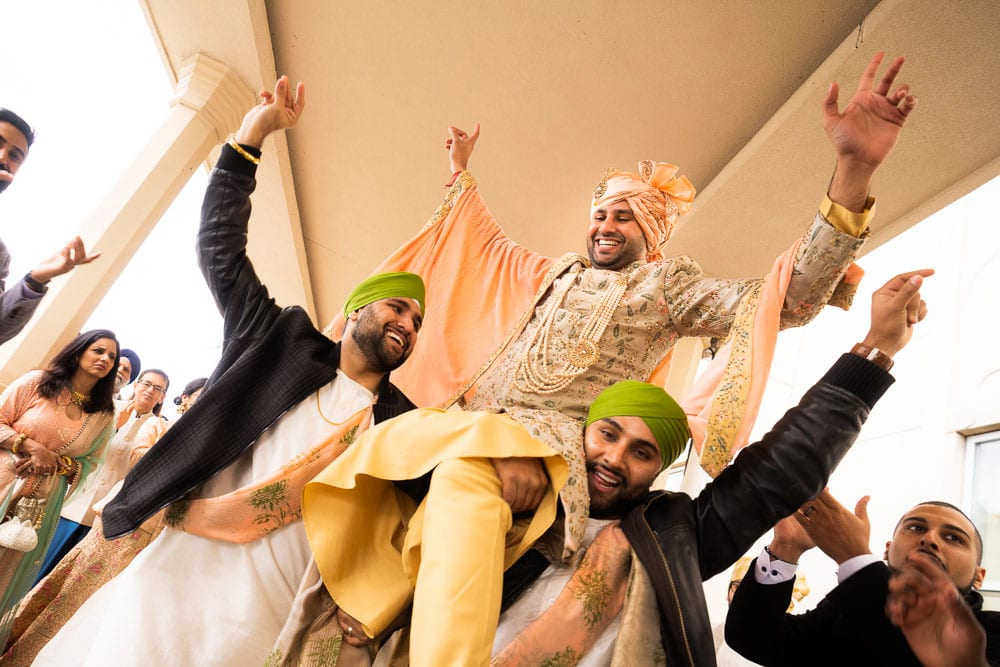 Baraat at this Bollywood-inspired wedding Toronto